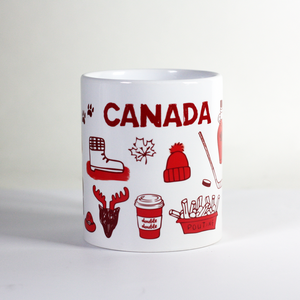 canada eh maple leaf toque double-double tim hortons coffee poutine