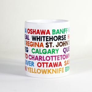 colourful canada town city mug souvenir tourist gift country