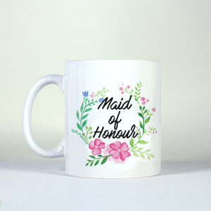 wedding theme bridesmaid maid of honour summer spring mug