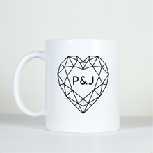 Load image into Gallery viewer, Custom Geometric Heart Mug