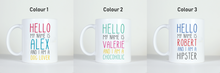Load image into Gallery viewer, images of the colour options for this ready made mug product