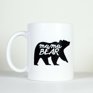 mother mama mum mom bear animal camping mug cute mother's day