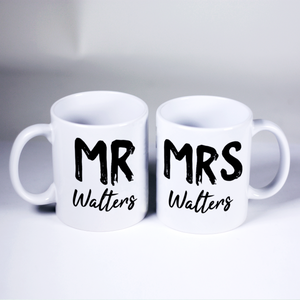 Custom Mr & Mrs Mug