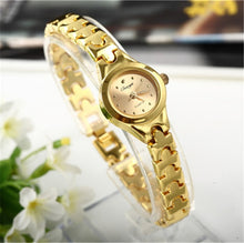 Load image into Gallery viewer, Women Bracelet Watch Mujer Golden Relojes Small Dial Quartz leisure Watch Popular Wristwatch Hour female ladies elegant watches