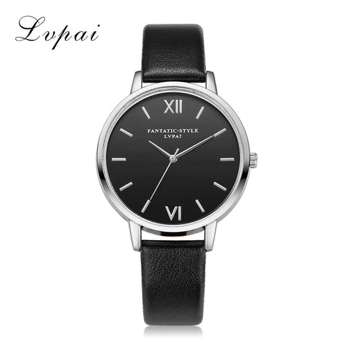 2017 New Rose Gold Black Roman Numerals Women Watches Brand Luxury Round Fashion Popular Wristwatch Female Quartz Watch