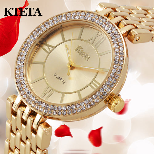 Womens watches Brand Luxury Diamond Gold Watch Ladies Quartz Wristwatch Woman Clock Relogio Feminino Relojes Mujer Hodinky Women