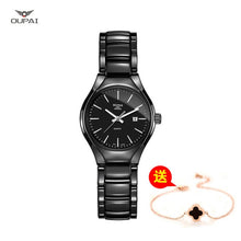 Load image into Gallery viewer, Ceramic watch Fashion Casual Women quartz watches relojes mujer OUPAI brand luxury wristwatches Girl elegant Dress clock RAD05LO