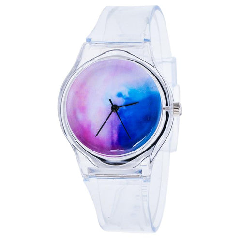 Transparent Clock Silicone Watches Women Sport Casual Quartz Wristwatches Novelty Crystal Ladies Watch Cartoon Reloj Mujer #Zer