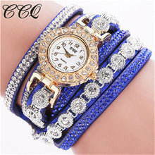 Load image into Gallery viewer, CCQ 2018 Watch Women Bracelet Ladies Watch With Rhinestones Clock Womens Vintage Fashion Dress Wristwatch Relogio Feminino Gift