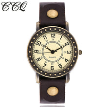 Load image into Gallery viewer, Vintage Fashion Simple Dial Watch Casual Cow Leather Quartz Watch Women Wristwatches Female Clock