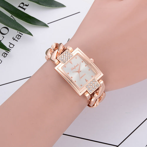Lvpai Fashion Brand Women Watch Waterproof Rhinestone Gold Full Steel Quartz Wristwatch Women Dress Gift Luxury Fashion Lady Wat