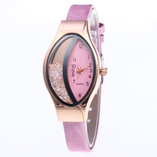 Load image into Gallery viewer, Brand Women's Bracelet Watches Crystal Rose Gold leather Ladies Casual Quartz Dress Wristwatches Clock Female relogio masculino