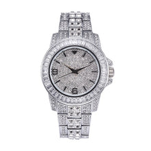 Load image into Gallery viewer, Top Brand Luxury Missfox Rolexable Waterproof Watch Full Diamond Hublo Unisex Quartz Watch With Box