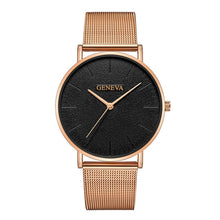 Load image into Gallery viewer, Simple Women Men Watches Top Brand Luxury Stainless Steel Mesh Quartz Wristwatches Fashion Clock ladies Watch Montre Femme 2018