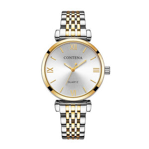 Women's Wrist Watch 2018 Luxury Brand Contena Ladies Quartz Watch Full Stainless Steel Female Clock Wristwatches reloj mujer