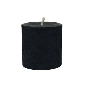 "Beeswax candle 3"", black color with cotton wick"