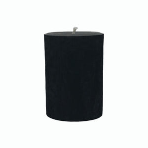 "Beeswax candle 4"", black color with cotton wick"