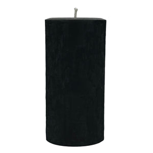 "Beeswax candle 6"", black color with cotton wick"