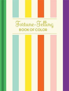 Fortune-Telling Book of Color. Multi colored stripes with gold text.