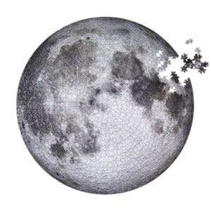 Moon puzzle, 1000 pieces, top right corner not complete