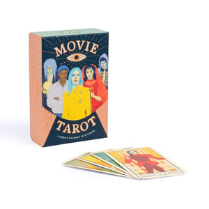 Movie Tarot box with sample of cards in front.