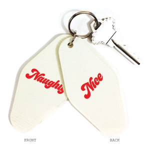 Naughty/Nice Double-Sided Key Chain