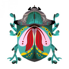 Paul beetle wall cabinet, multiple colors of mint green, pink, yellow, red, black and gray