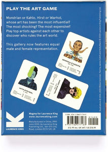 The Art Game New Edition Fifty Cards text.  Back of box with a sample of cards.