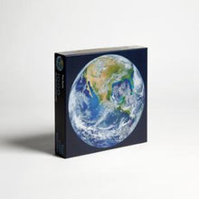 The Earth puzzle, 1000 pieces.  Front angle view of box
