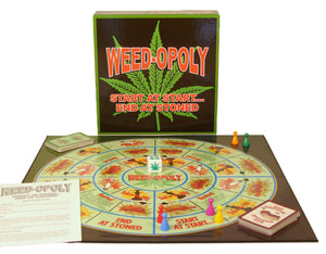 Weedopoly board game and contents