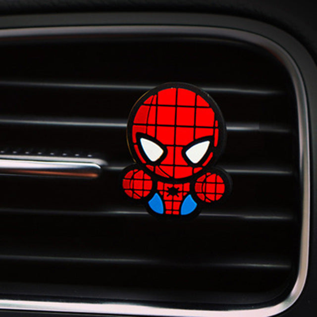 For Marvel Avengers Heros Figure Car Air Condition Vent Perfume Balsam Fragrance Air Freshener Interior Decoration Car styling