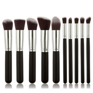 Fashion 10Colors Professional 10Pcs Makeup Brush Sets Tools Cosmetic Brush Foundation Eyeshadow Eyeliner Lip Powder Brush