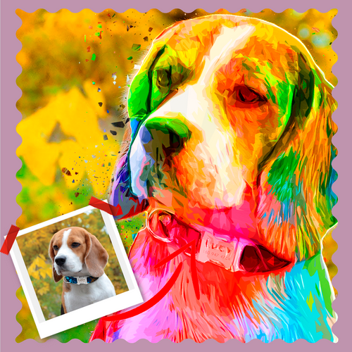 Rothko Style Pet Artwork - Let Us Turn Your Pet Into Art