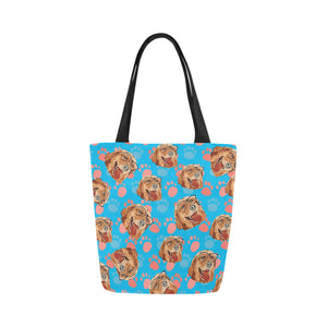 Custom Tote Bag | Personalized Dog Tote Bag - Wine Shadow