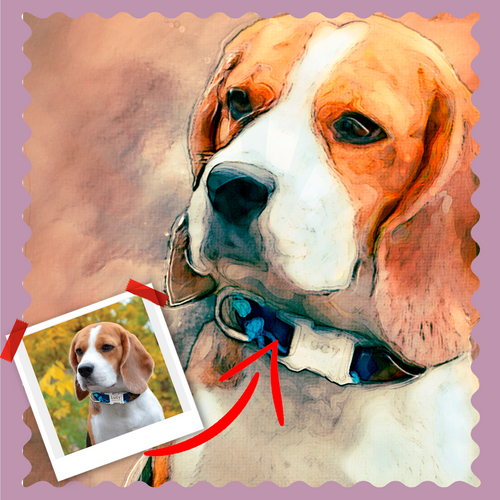Munk Style Pet Artwork - Let Us Turn Your Pet Into Art