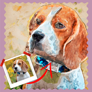 Botticelli Style Pet Artwork - Let Us Turn Your Pet Into Art