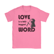 Love is a Four Legged Word Tee | Dog Lover T-shirt - Wine Shadow
