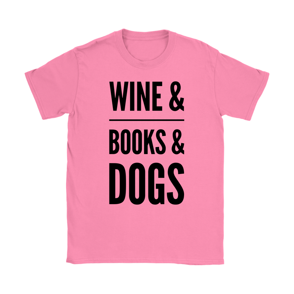 Wine Books and Dogs Tee | - Wine Shadow