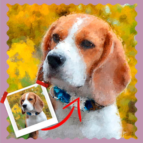 Monet Style Pet Artwork - Let Us Turn Your Pet Into Art