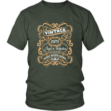 40th birthday T-shirt - Vintage 1979 Aged to Perfection - Wine Shadow