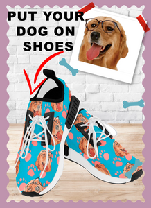 Personalized Casual Sneakers | Put Your Dog On Custom Sneakers - Wine Shadow