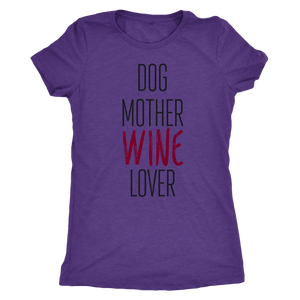 Dog Mother Wine Lover Women's T-shirt - Wine Shadow