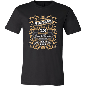 65th birthday gift - Vintage 1954 Aged to Perfection T-shirt - Wine Shadow