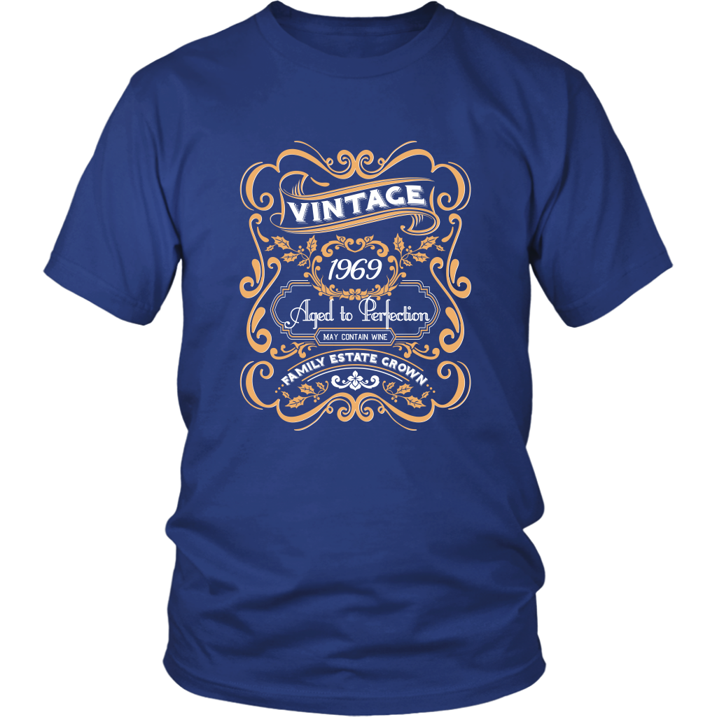 50th Birthday Shirts - Vintage 1969 Aged to Perfection Tshirt