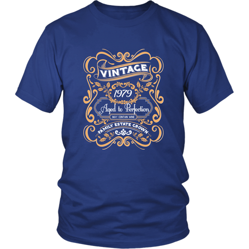 40th Birthday Shirts - Vintage 1979 Aged to Perfection Tshirt