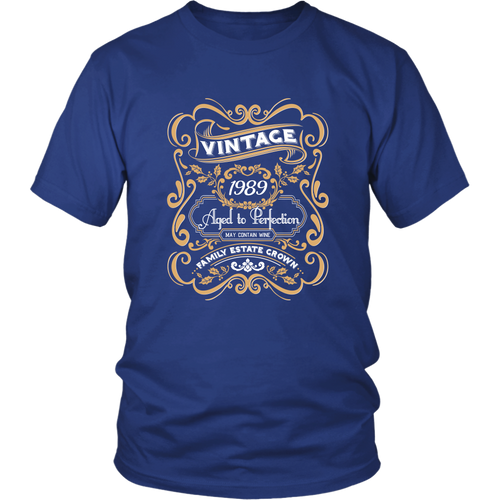 30th Birthday Shirts - Vintage 1989 Aged to Perfection Tshirt