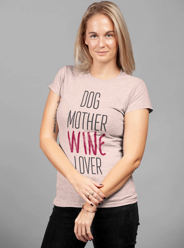 Dog Mother Wine Lover Women's T-shirt