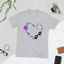 Dog Lover Unisex T-Shirt | Heart with paw prints