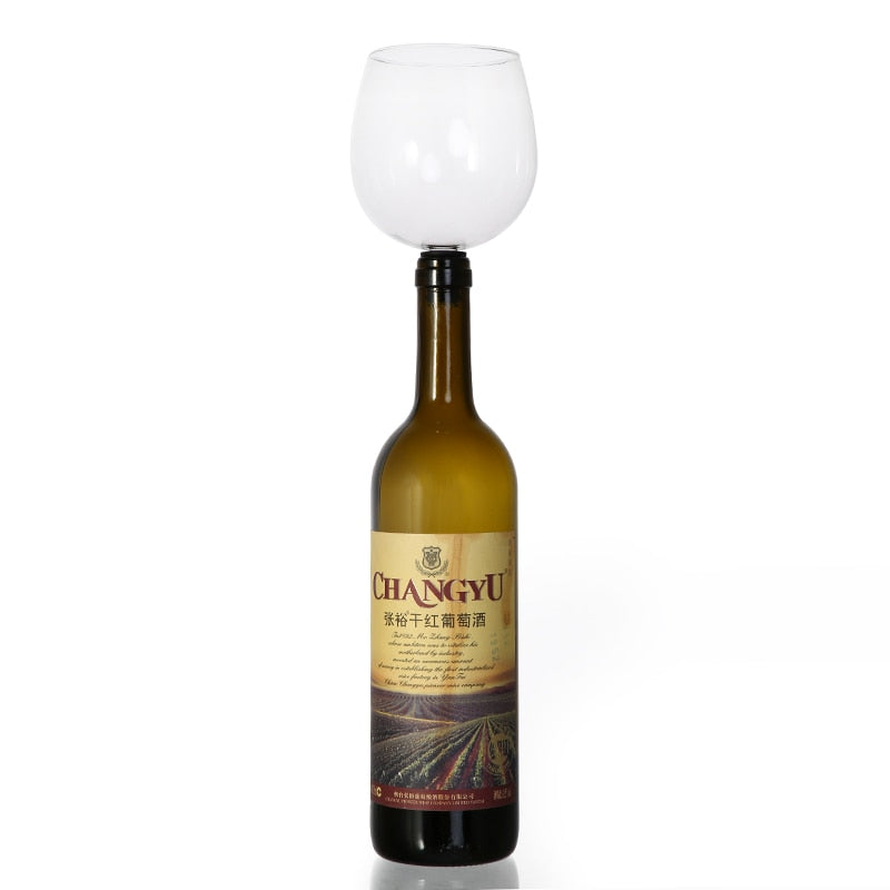 Wine Glass - Turns Your Bottle of Wine Into Your Wine Glass - Wine Shadow