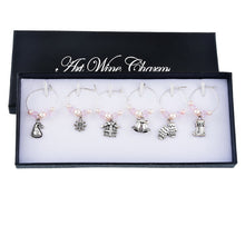 Party Charms Set (6 pcs) - Wine Shadow